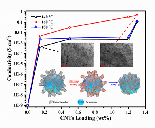 Efficient Solvent-Free Microwave Irradiation Synthesis of Highly Conductive Polypropylene Nanocomposites with Lowly Loaded Carbon Nanotubes
