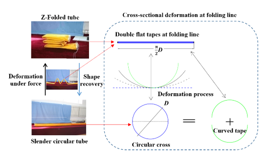 Deployment Analysis of Aramid Fiber Reinforced Shape-Memory Epoxy Resin Composites