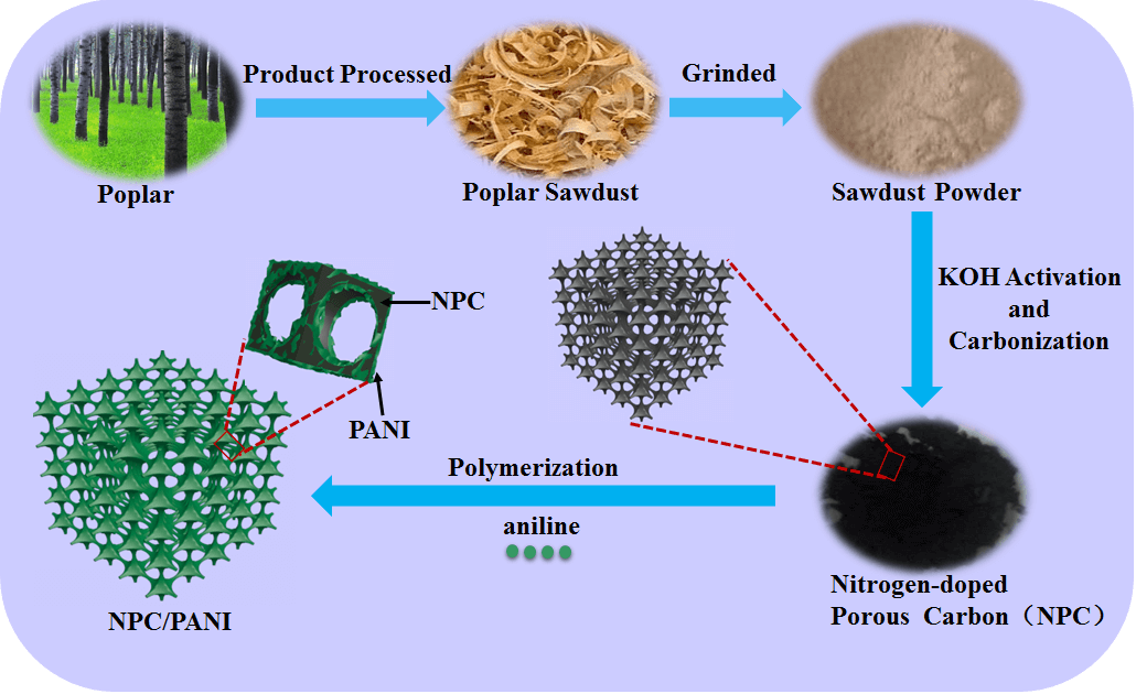 Biomass-derived Nitrogen-doped Porous Carbons (NPC) and NPC/ Polyaniline Composites as High Performance Supercapacitor Materials