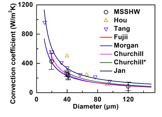 """Thermal Characterization of Convective Heat Transfer in Microwires Based on Modified Steady State """"Hot Wire"""" Method"""