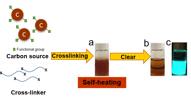 """""""Self-heating"""" Enabled One-pot Synthesis of Fluorescent Carbon Dots"""