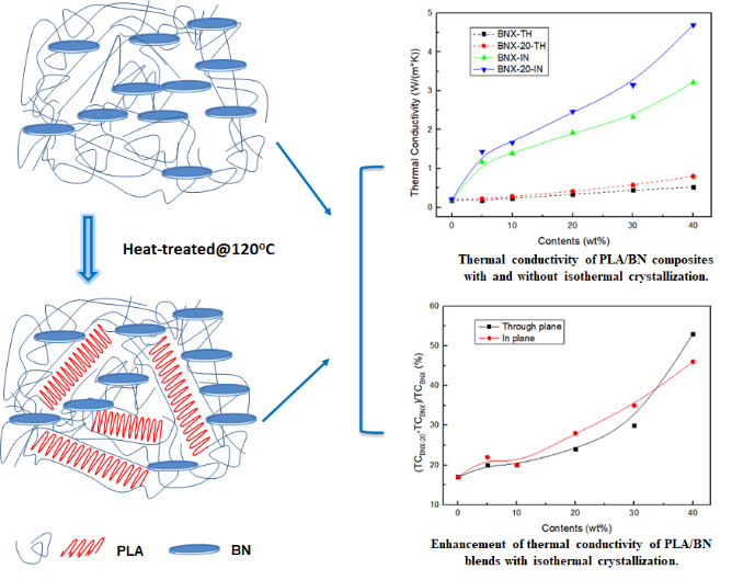 Effect of PLA Crystallization on the Thermal Conductivity and Breakdown Strength of PLA/BN Composites