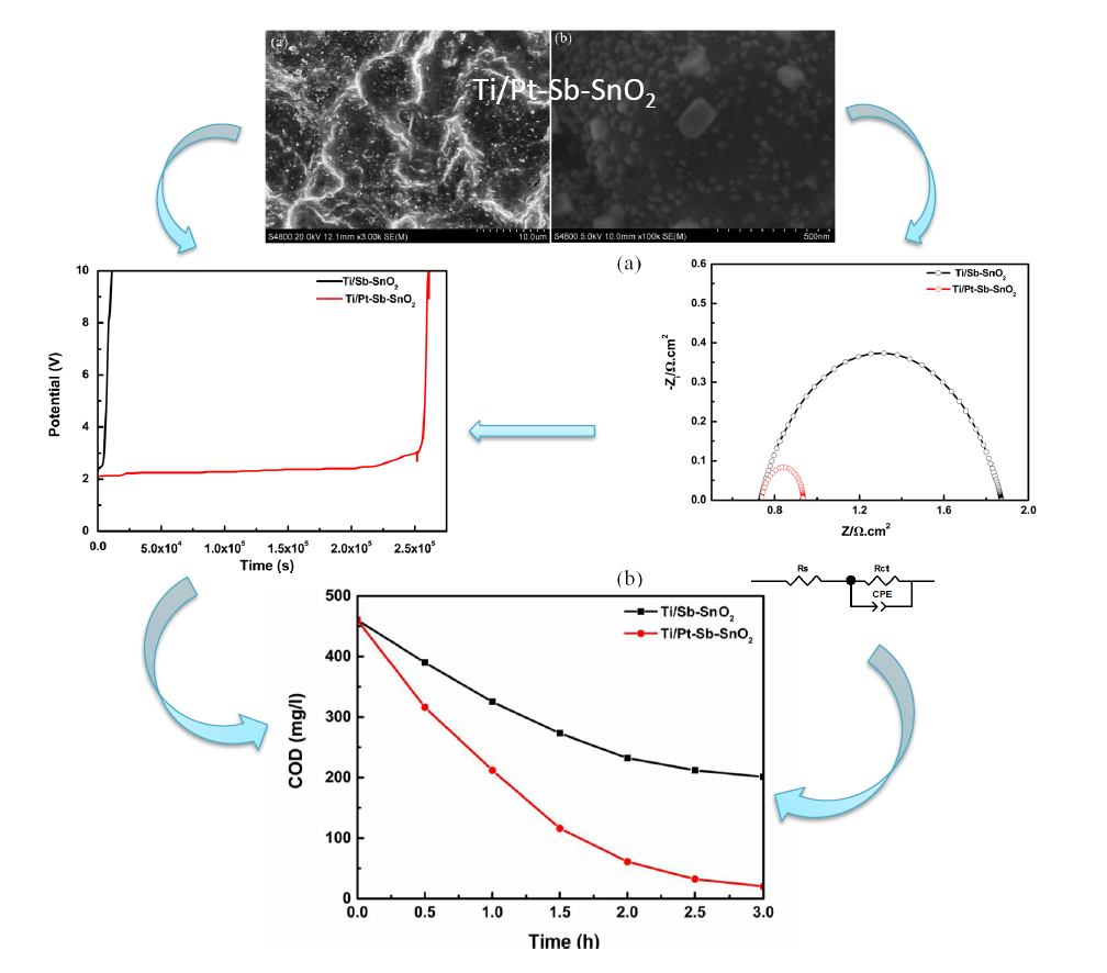 Fabrication and Characterization of Pt doped Ti/Sb-SnO2 Electrode and its Efficient Electro-Catalytic Activity toward Phenol