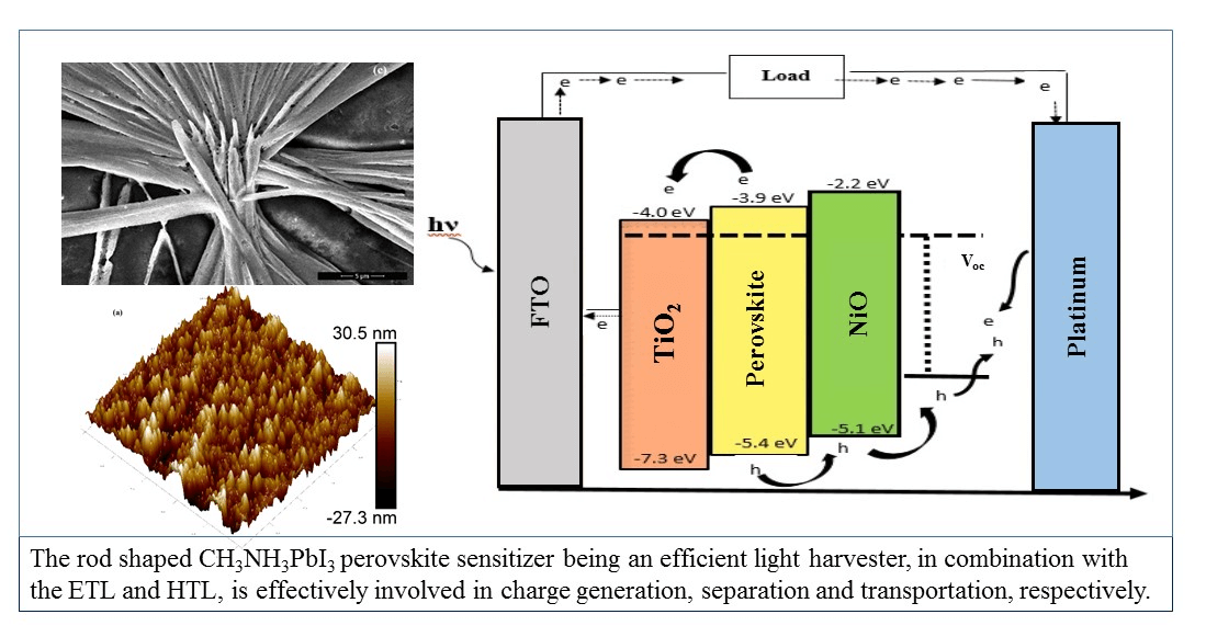 Nickel Oxide Embedded with Polymer Electrolyte as Efficient Hole Transport Material for Perovskite Solar Cell