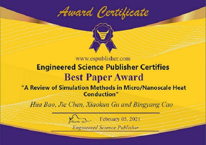 Engineered Science Publisher Best Paper Award